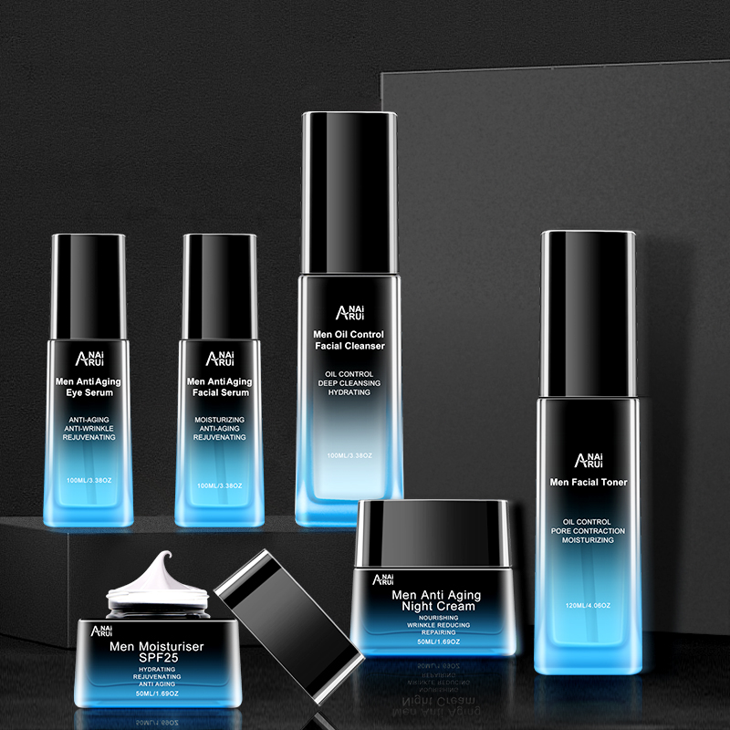 OEM private label men's skin care products gift males face care set face oil control anti acne men skin care set