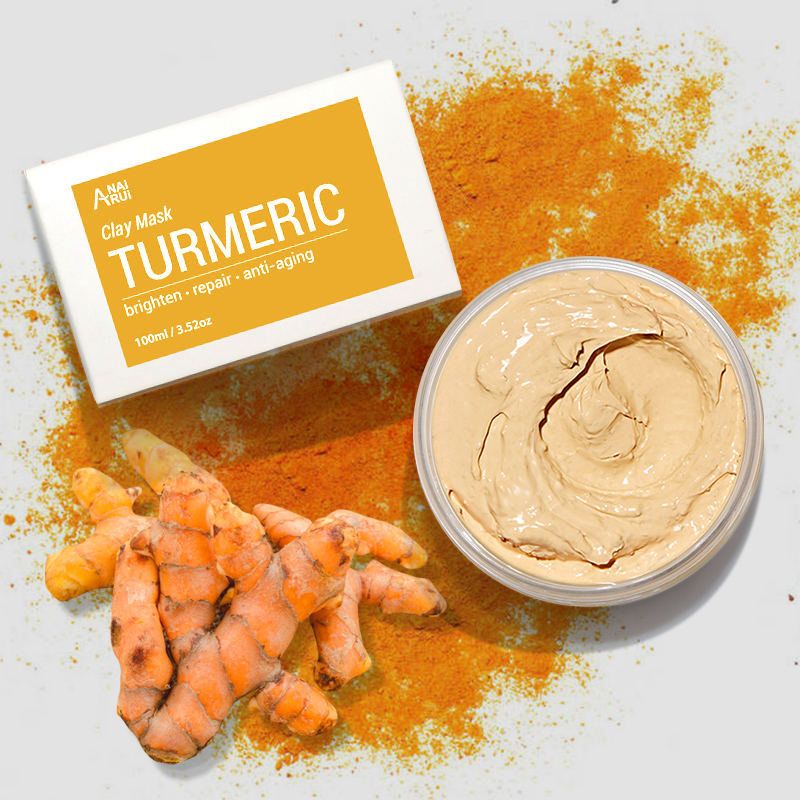 Private Label OEM Chinese Supplier Skin Care Brightens Repairs Anti-Aging Turmeric Clay Mud Mask