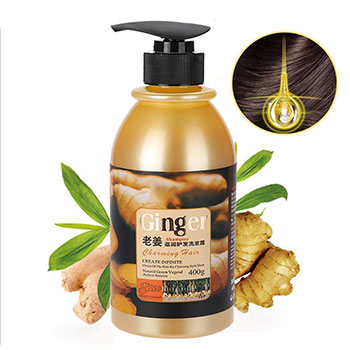 Natural Ginger Shampoo Without Silicone Oil Deep Cleaning Dandruff Nourishing Oil-Control Itching Health Hair Care