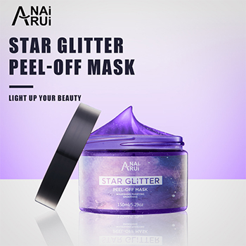 Latest styles Private label Facial Mask moisturizing smooth star Glitter peel off Facial Mask