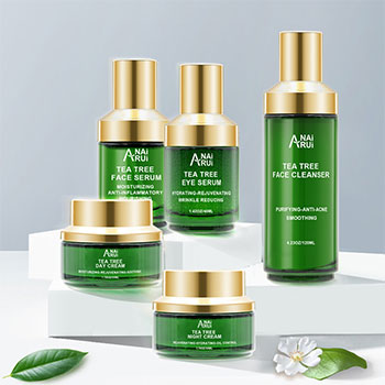 Acne Remover Pimple Treatment Organic Tea Tree Extract Anti-aging Skincare Set OEM Skin Care Products