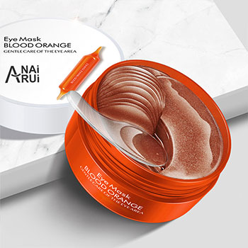 Blood Orange Eye Mask Moisturizing Firming Skin Remove Dark Circles Anti-Puffiness Gel Eye Mask