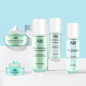 pore minimizing skin care set/face cleaners/face mask/serum/toner