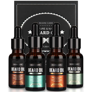 4 Pack Mustaches Growth Beard Oil Growth Kit With Own Label