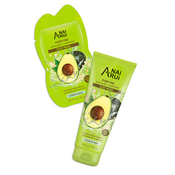 Purifying Clay Facial Mask, Oil Absorbing and Hydrating Beauty Face Mask with Avocado and Oatmeal
