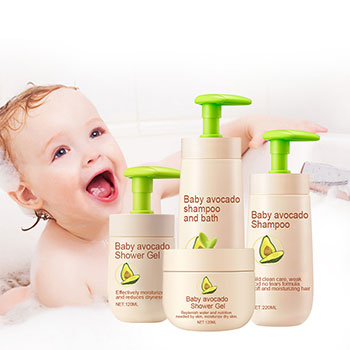 100% Natural Baby Care Body Wash/Shampoo/Cream Baby Skin Care Set